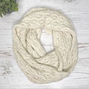 Accessories - Chunky Knit Cream Infinity Loop Scarf